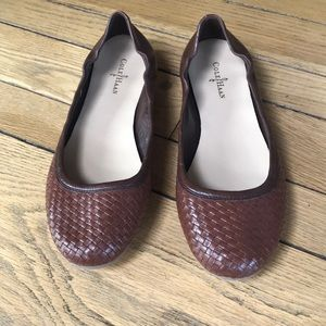 Cole Haan chestnut leather weave ballet flats 9B